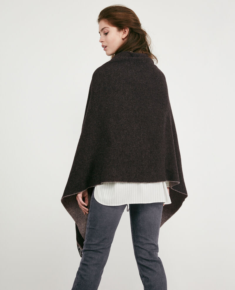 Cardigan-stole with wool Anthracite Double