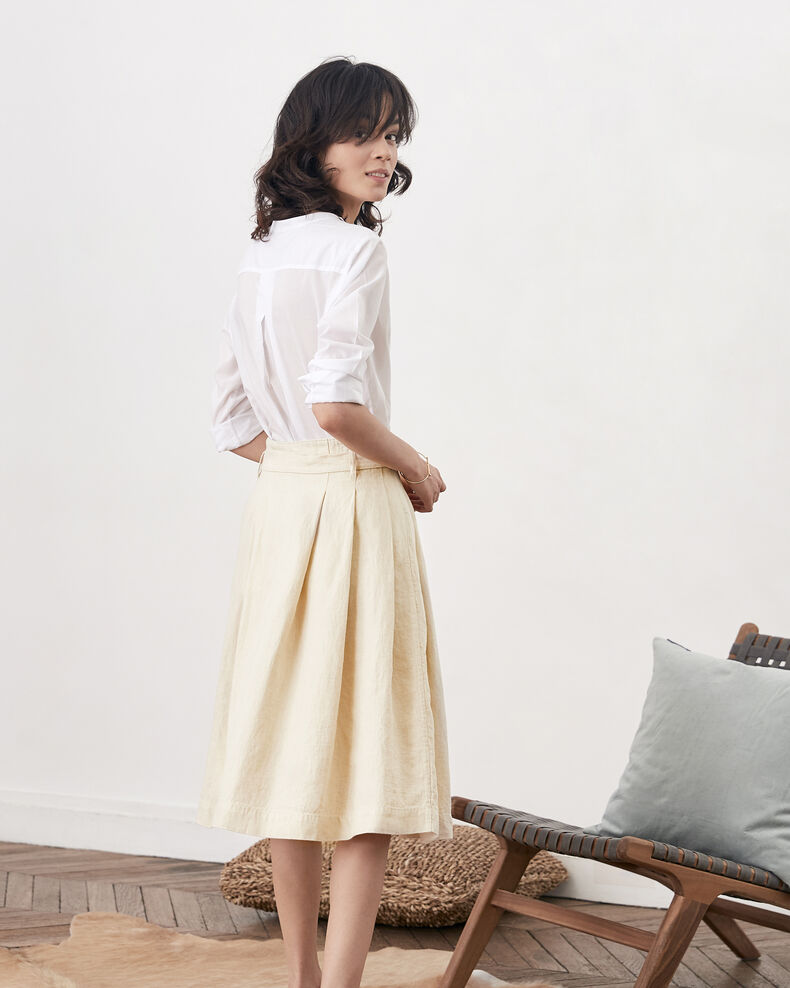 Linen skirt Natural Faheem