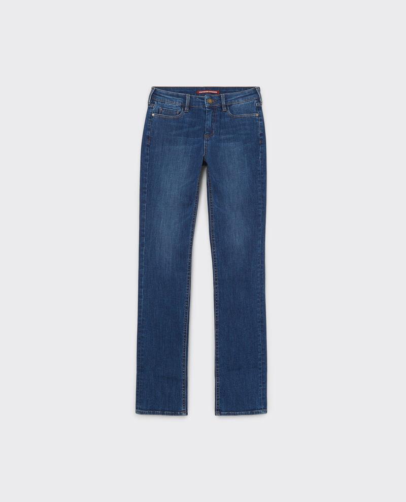 Fille dans le vent straight jeans Stone blue Cyan