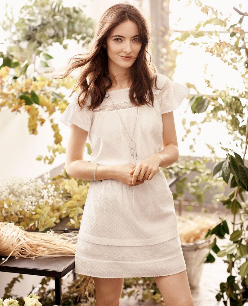Dotted Swiss cotton skirt Blanc Cabra