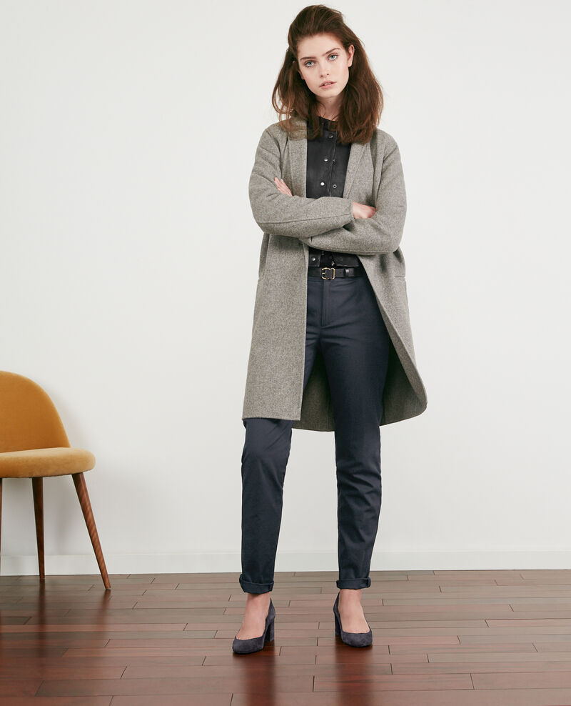Double-faced wool coat MEDIUM HEATHER GREY