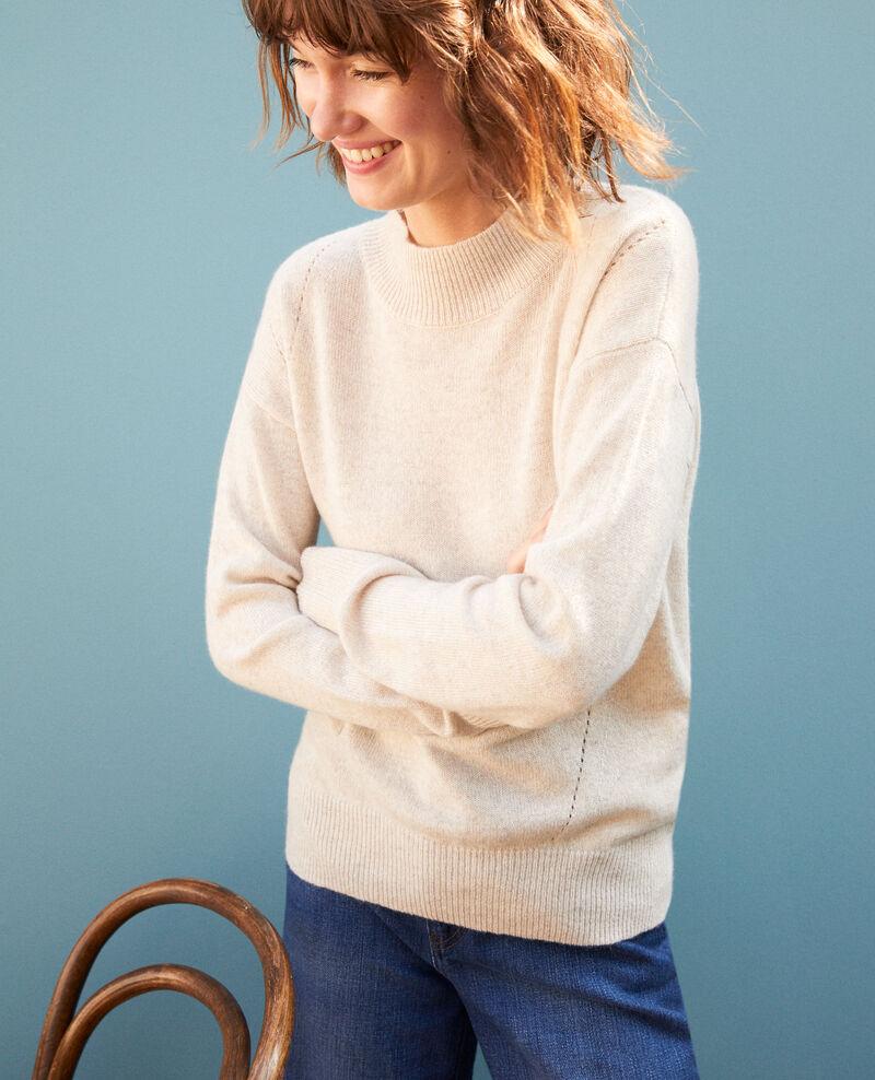 Cashmere jumper with high collar  Silver gray Gladissio