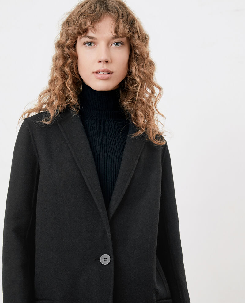 Double-faced wool coat Noir 9dexpresso