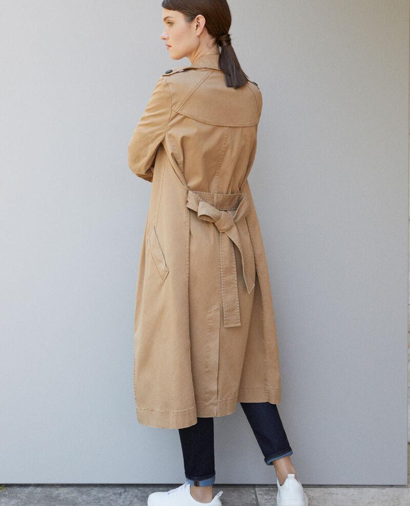 Long floaty trench coat Chamois rose 9betina