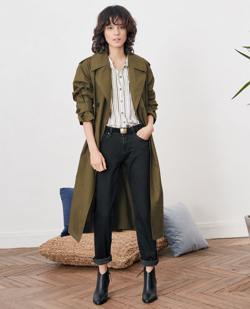 Loose fit Trench coat DARK KAKI