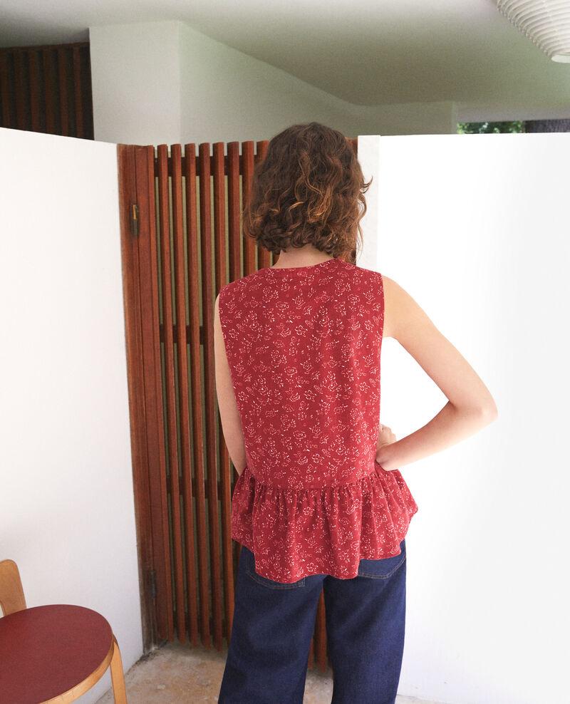 Sleeveless blouse Anthemis bloom rio red Gascon