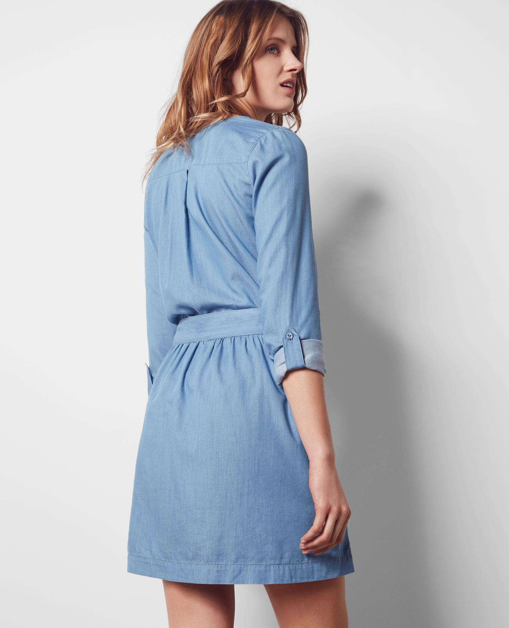 Robe en jean tencel