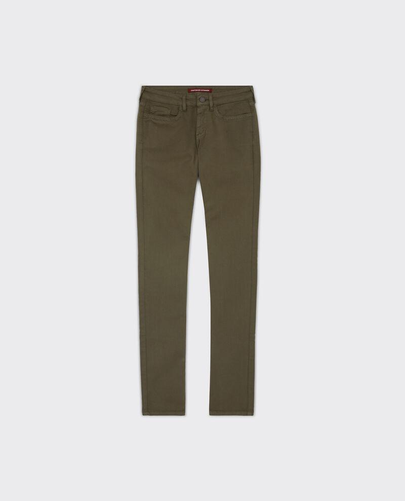 Fille dans le vent velvety-feel straight jeans  Army Cigogne