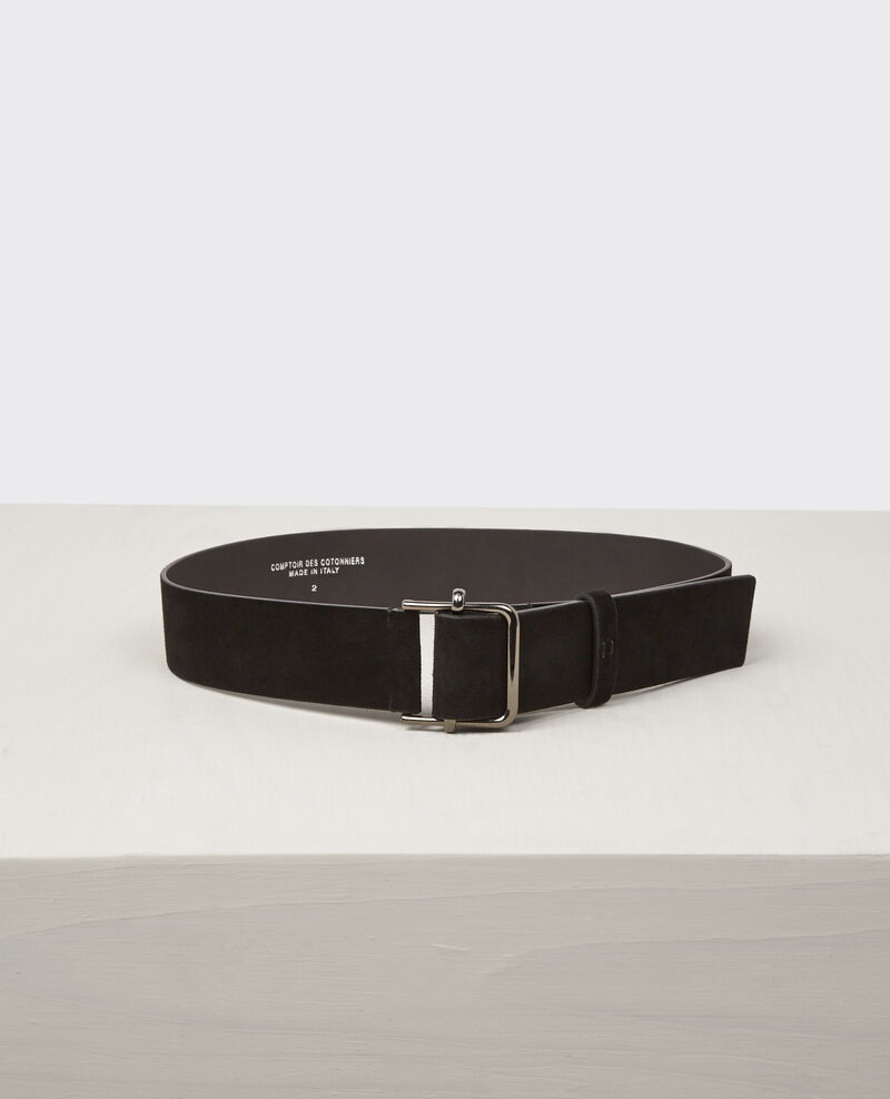 Leather belt Noir Civil