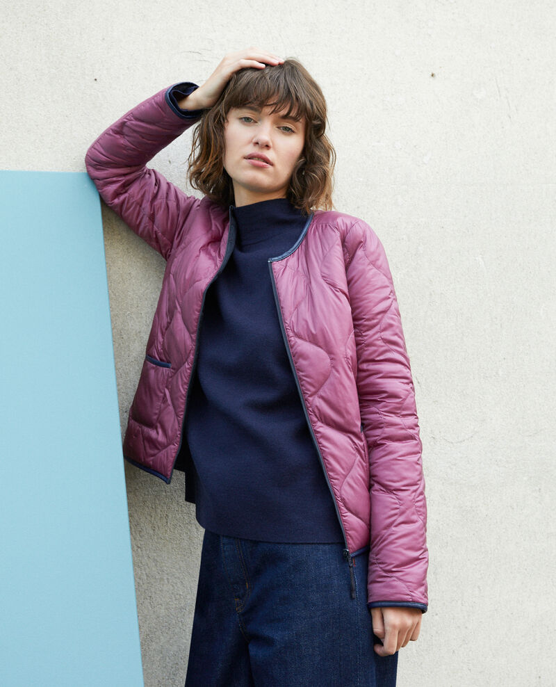Reversible padded jacket PURPLE/NAVY