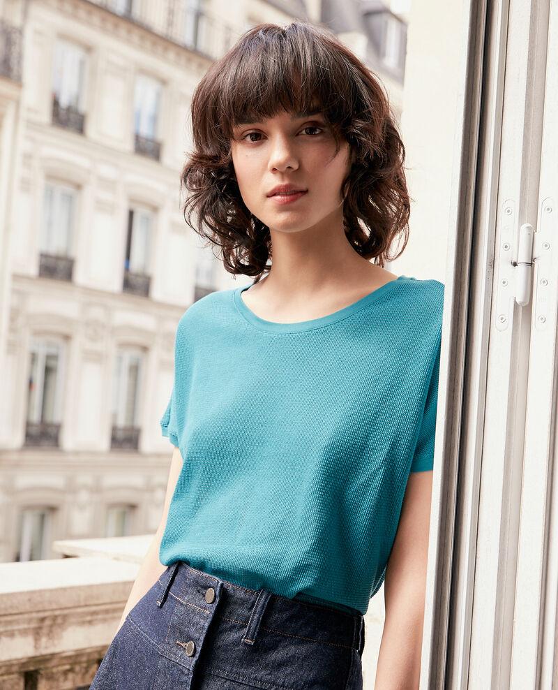 Round neck T-shirt Pacific green Fyera