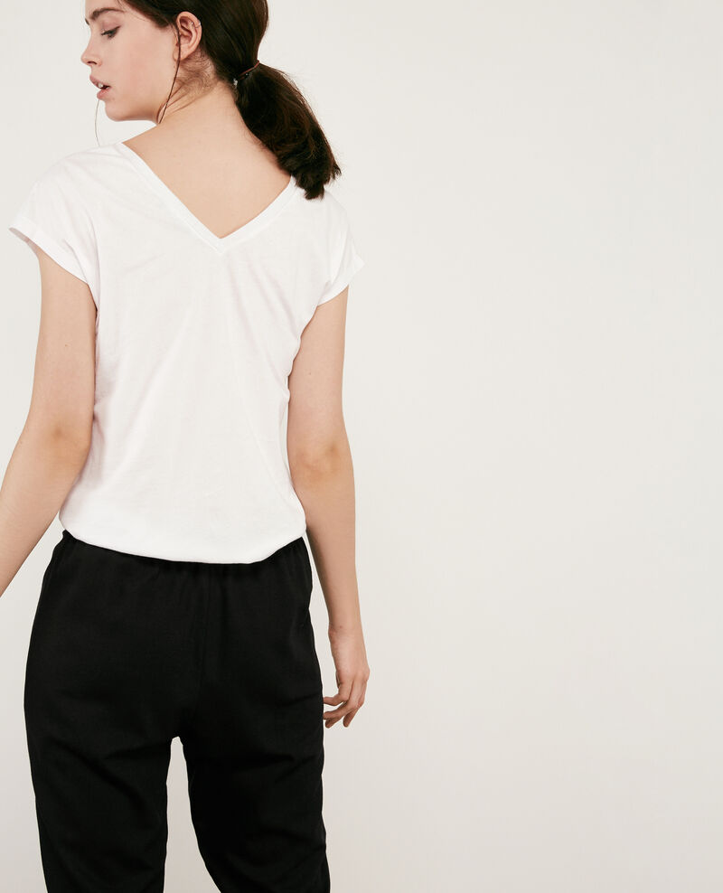 T-shirt with detail lurex inlay Off white 9dactylo