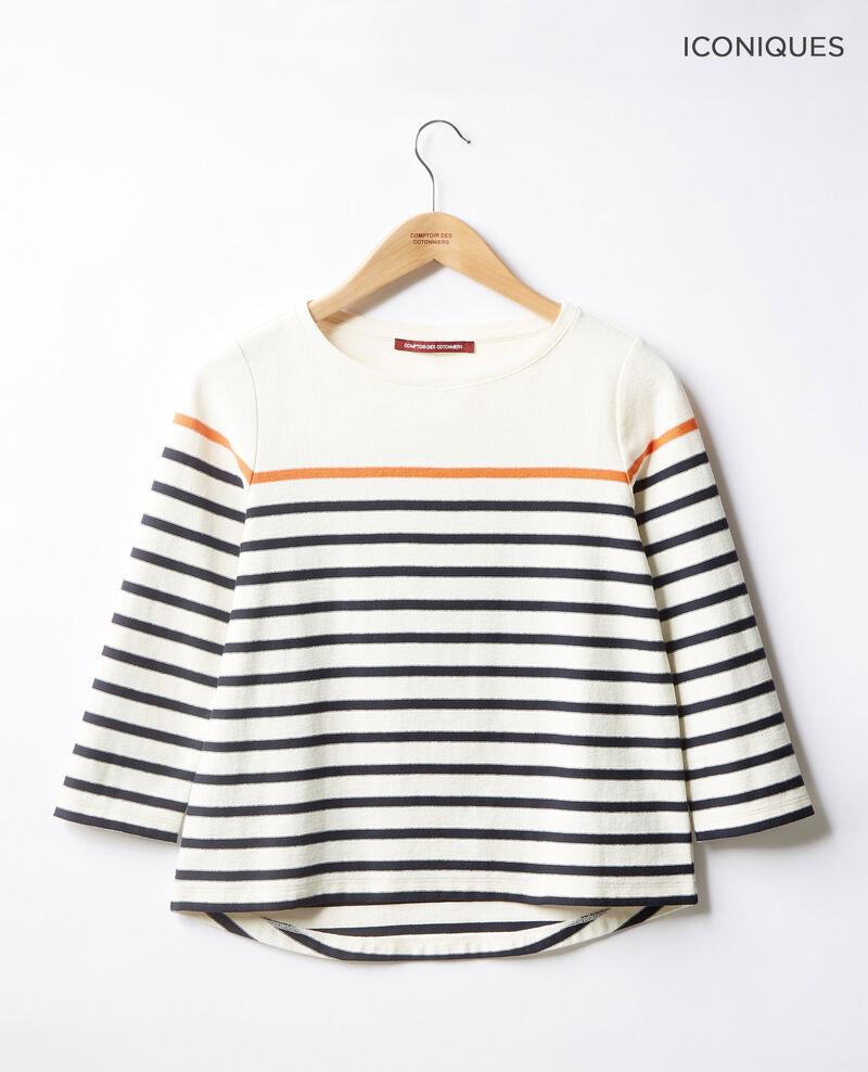 Striped T-shirt Kaolin/navy Faustus