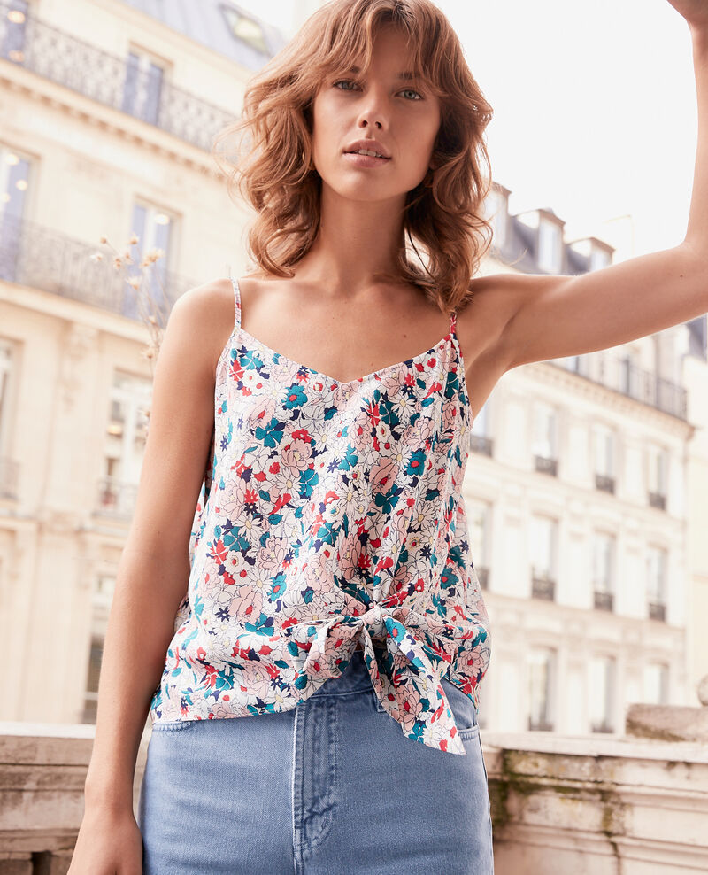 Silk cami SUMMER BLOOM ROSEBUD