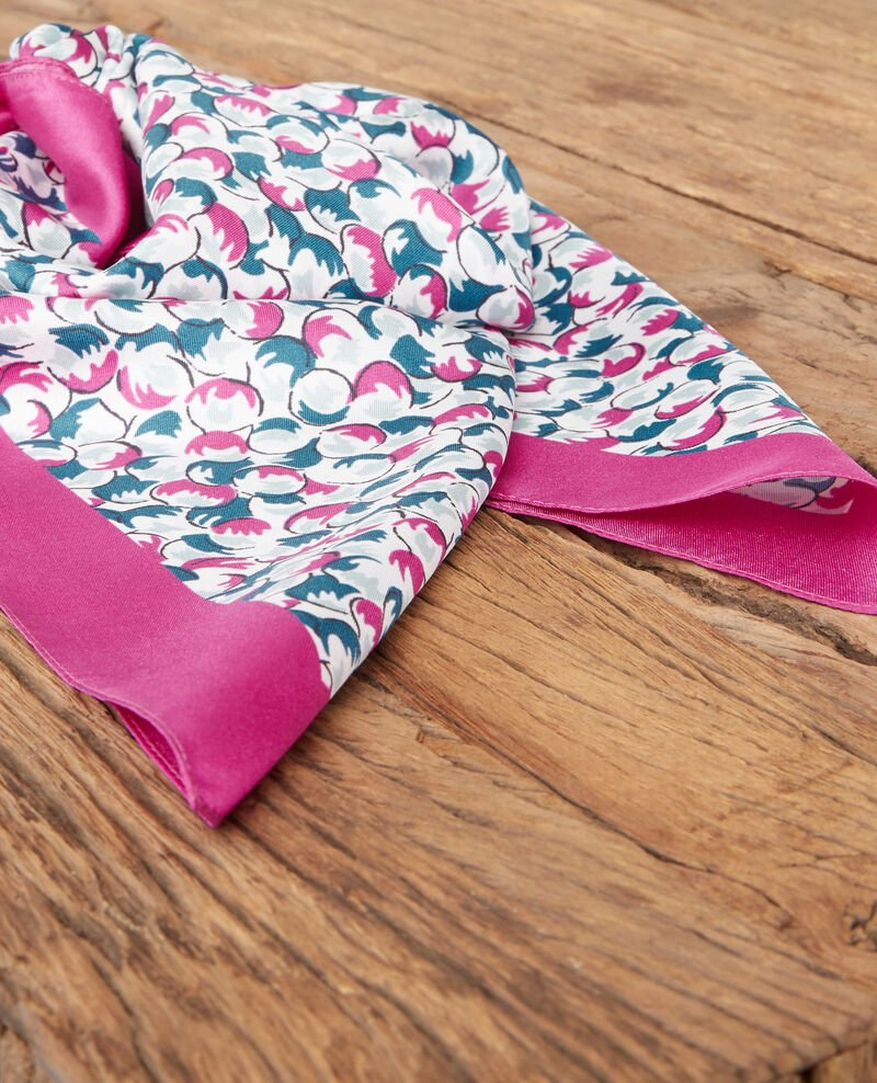 Small patterned silk scarf Bubbles peony Dabeille