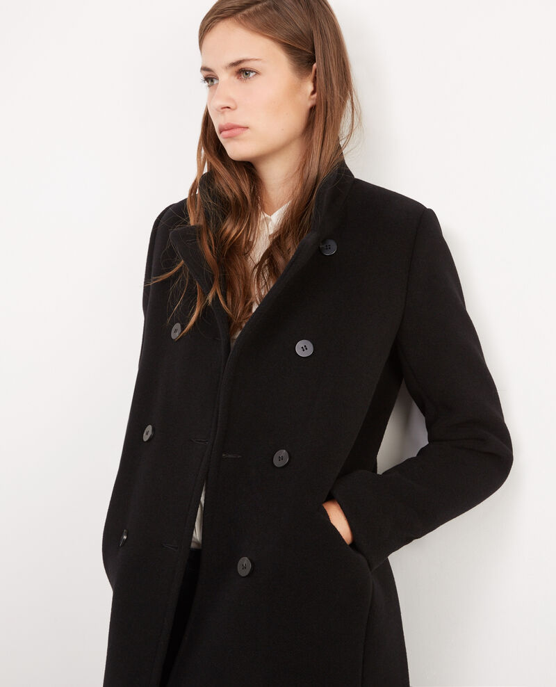 Wool military coat Noir Bicoat