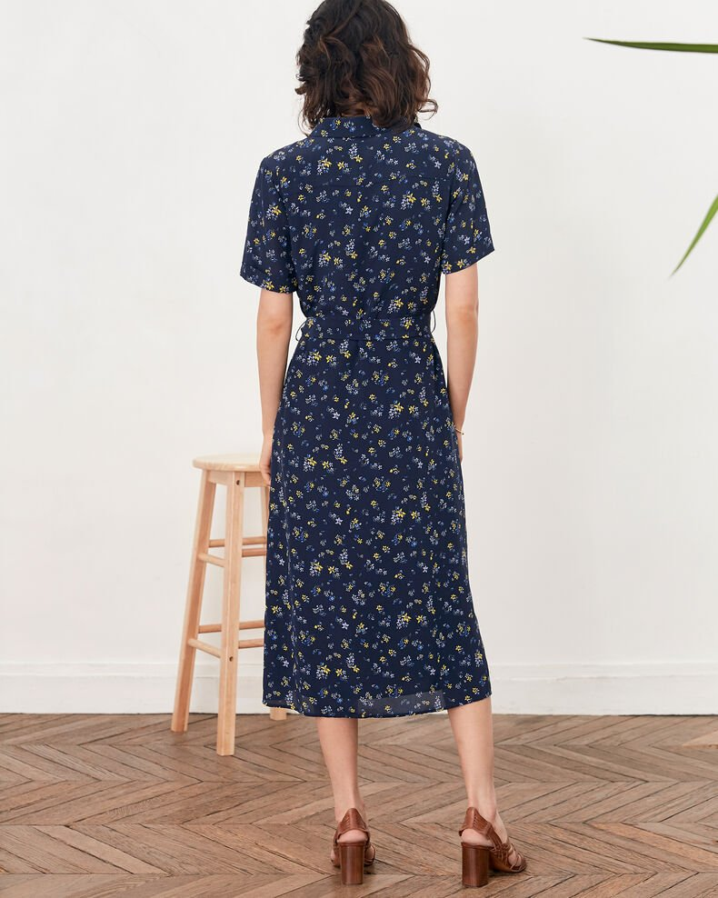 Printed dress Lillybell navy Flashback