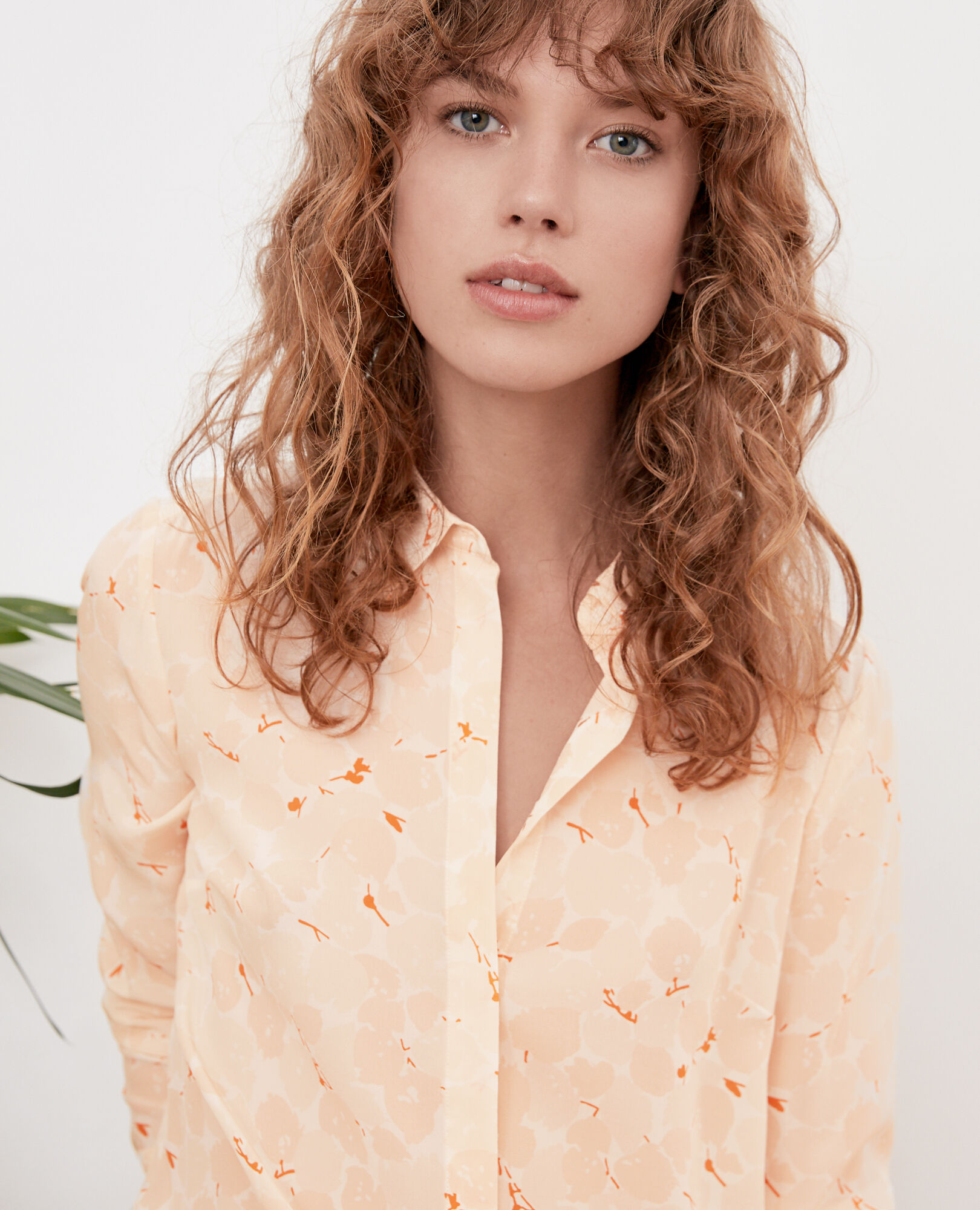 Loose shirt BLOSSOM SHADOW BISCUIT