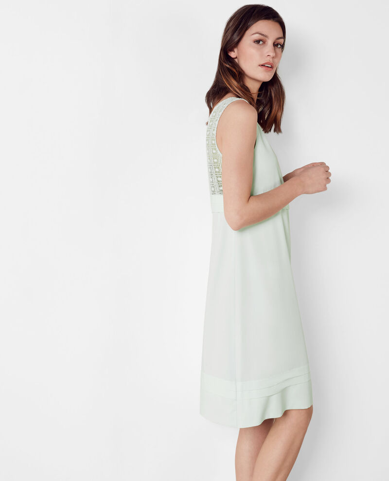 Dress with lace details Mint cream Chypre