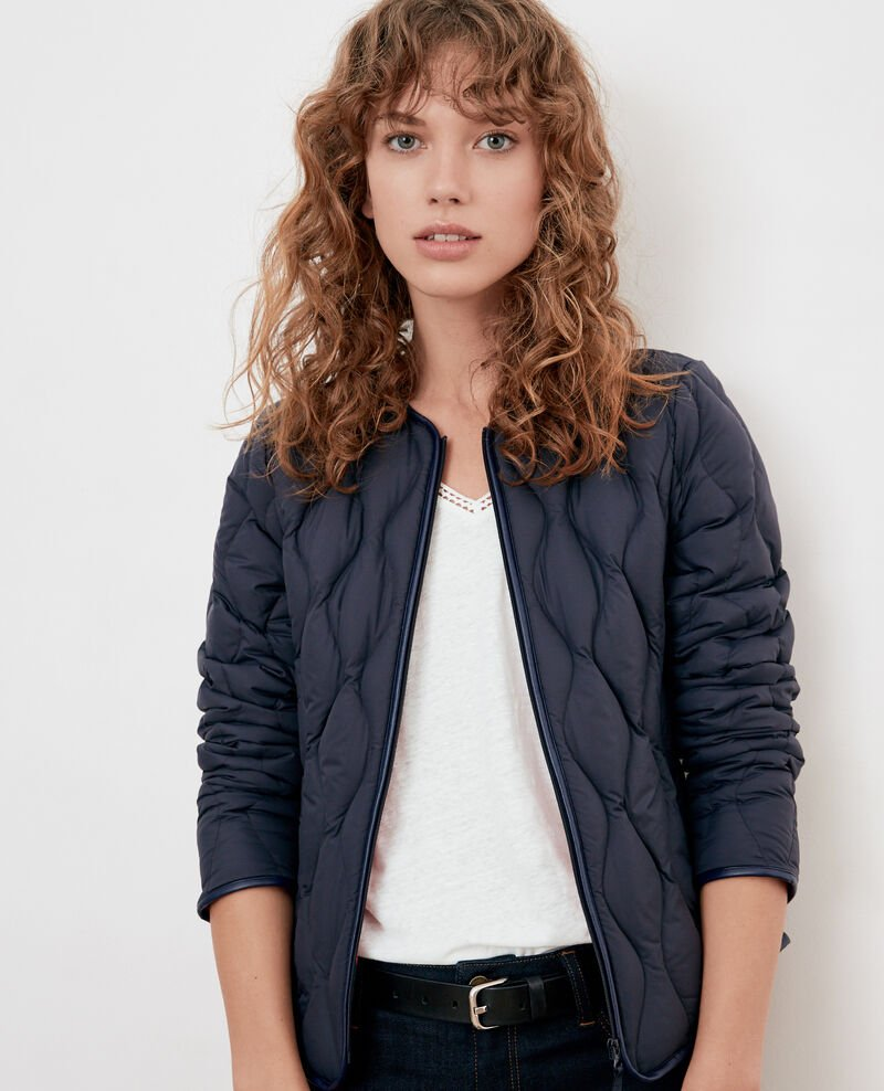 Pocketable puffa jacket NAVY/LOLLIPOP