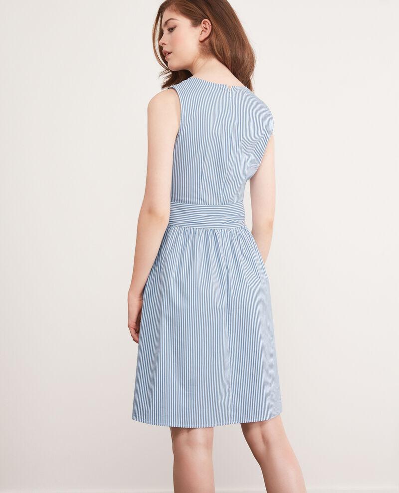 Striped dress Indigo/white Cassiopee