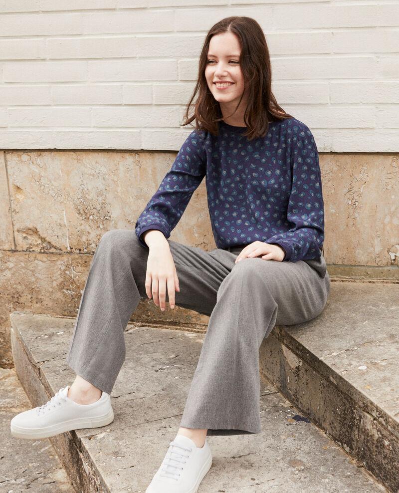 Loose printed blouse BL PEACOAT