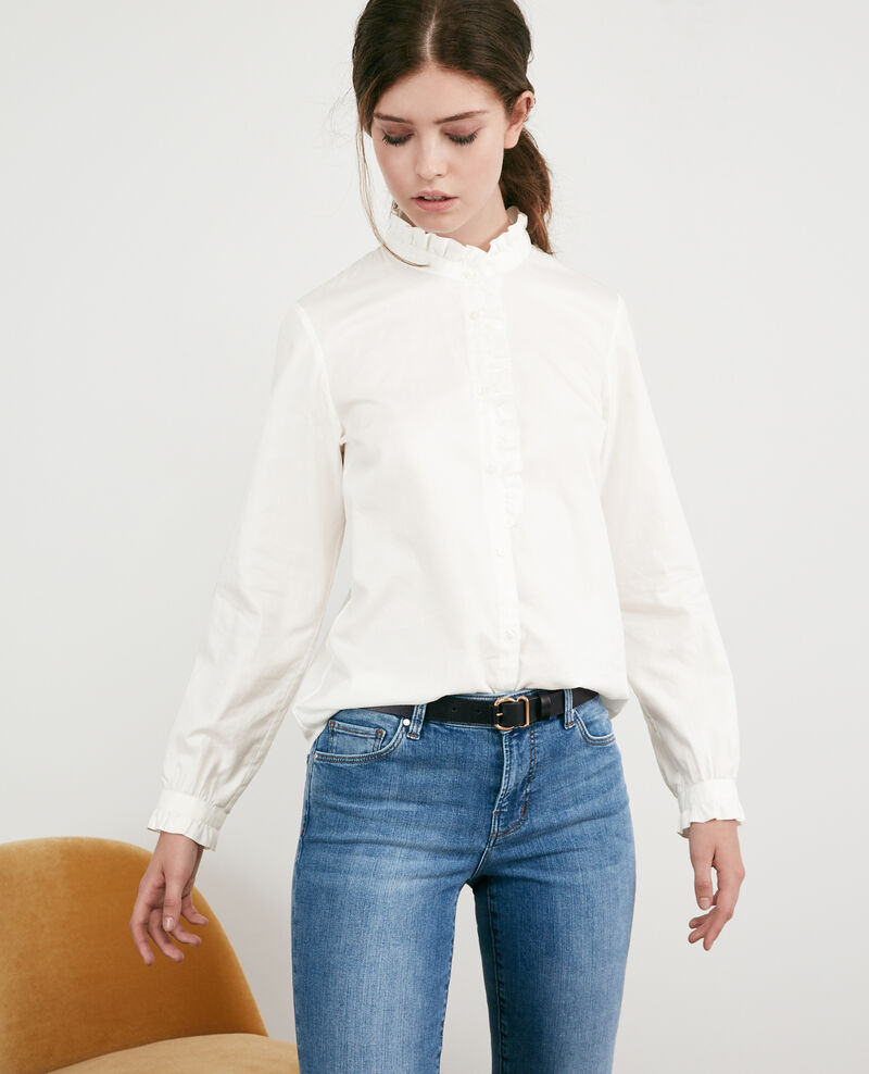 Ruffle shirt Blanc Doremi