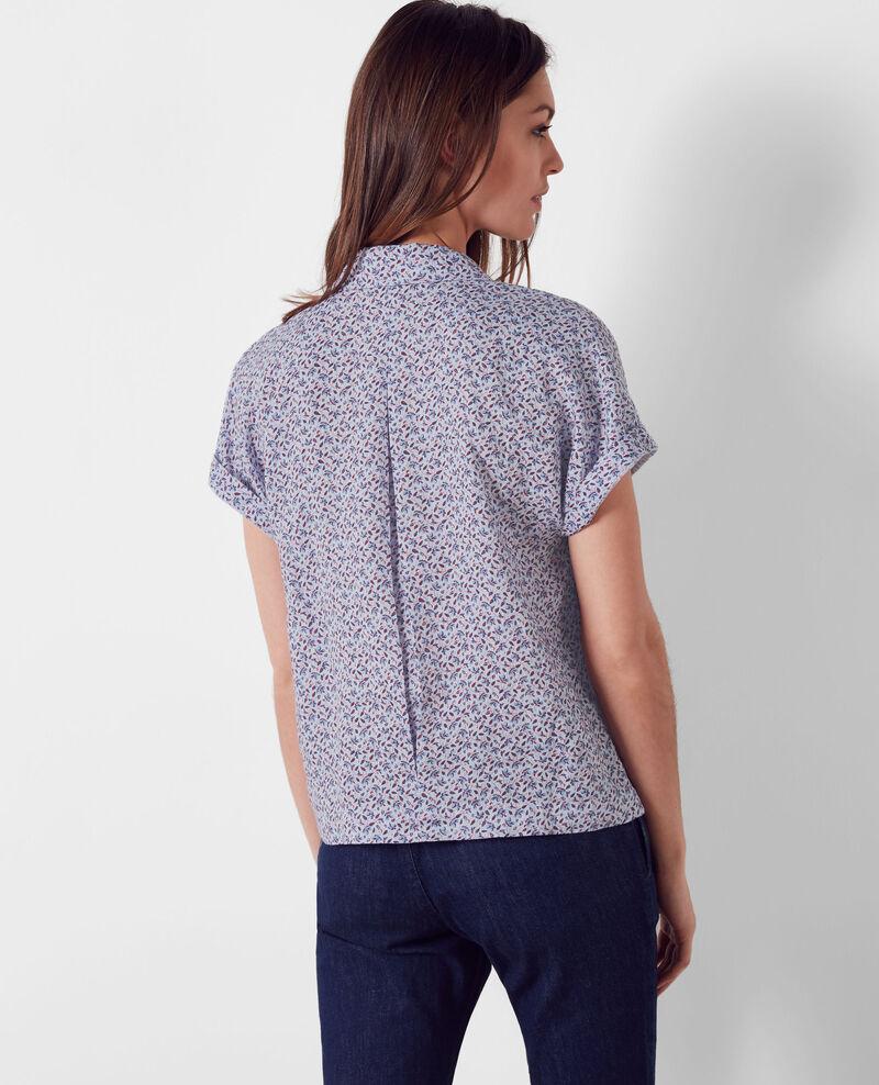 Linen print blouse Linen meadow crimson Ciflower