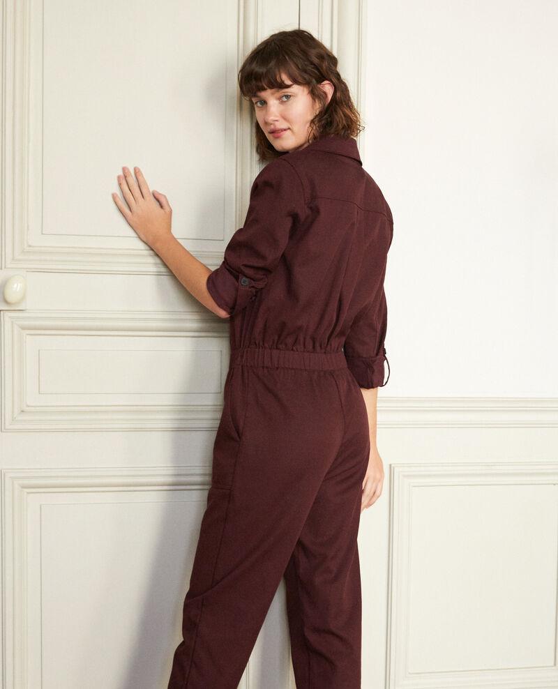 Deep neck jumpsuit Decadente chocolate Giobatta