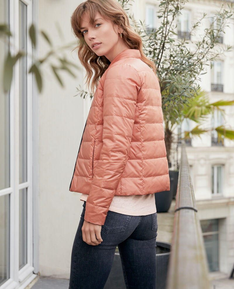 Reversible padded jacket with packable hood Navy/rose clay Dalife
