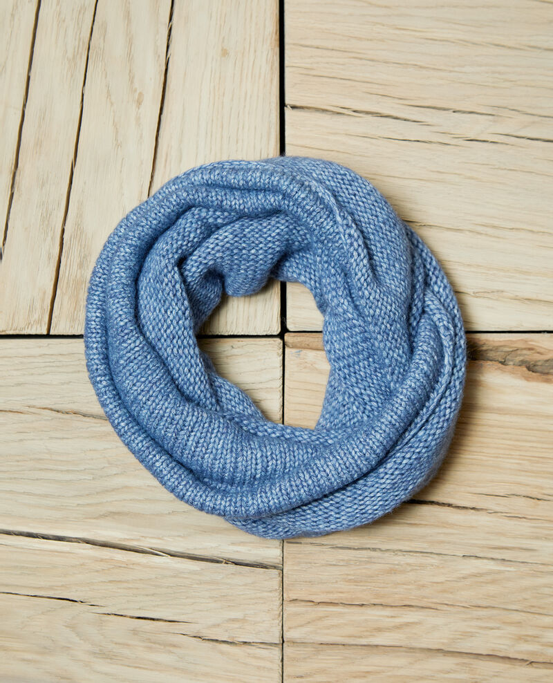 Chunky knit scarf ADRIATIC BLUE