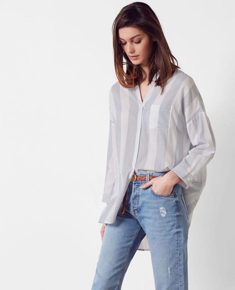 Oversize cotton shirt Off white/midnight Cineclub