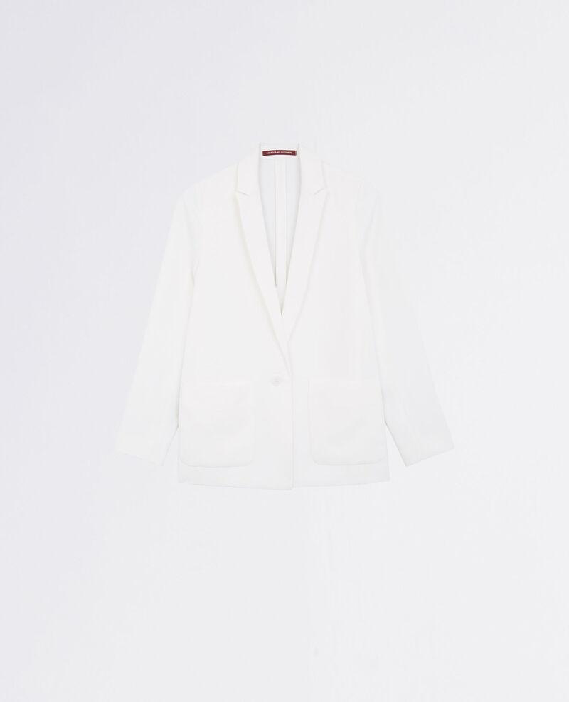Loose crepe blazer Off white Chapiteau