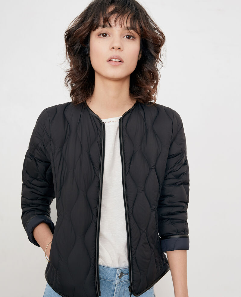 Pocketable puffa jacket BLACK/NAVY
