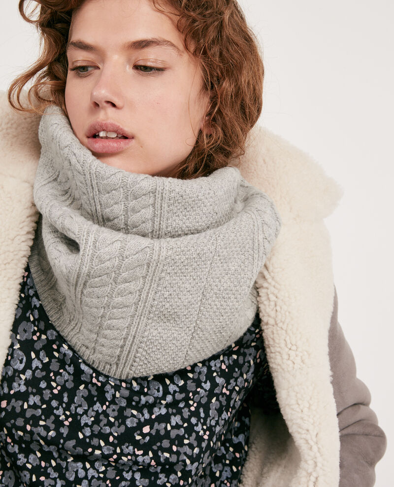 100% Wool snood Light grey Dozer