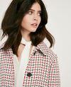 Wool blend tweed coat Off white Diarritz
