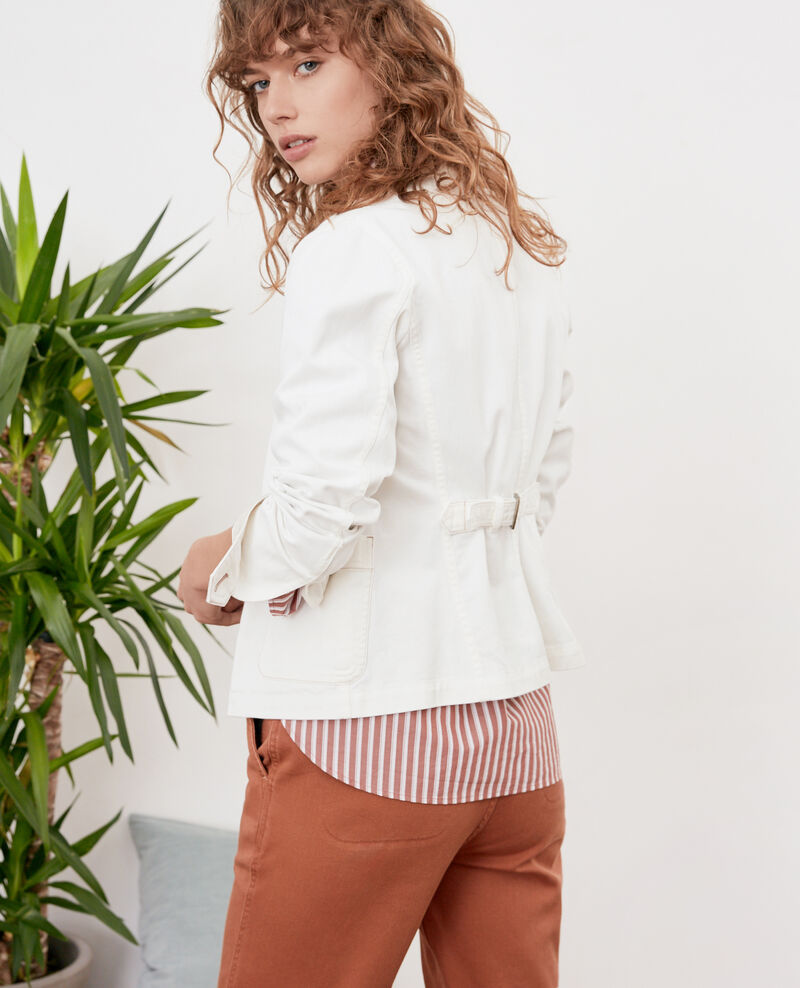Mandarin collar jacket Off white Felotte