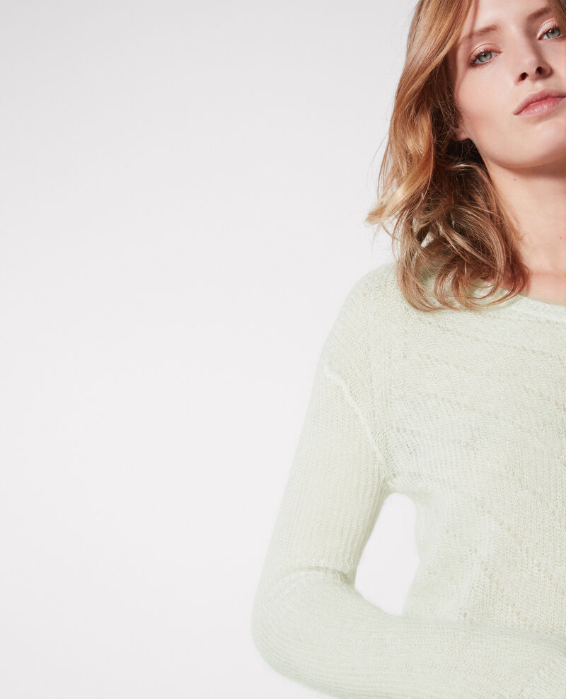 Jumper with mohair and wool Off white Cookie