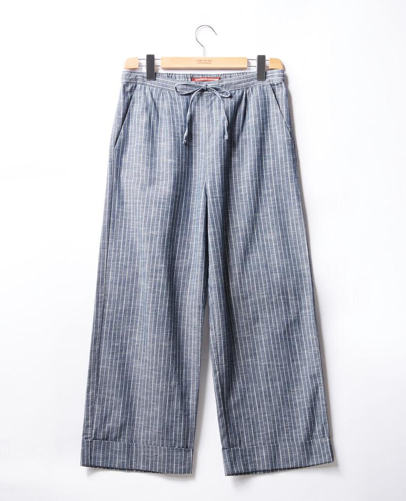 Loose fit trousers Indigo stripe Feruti
