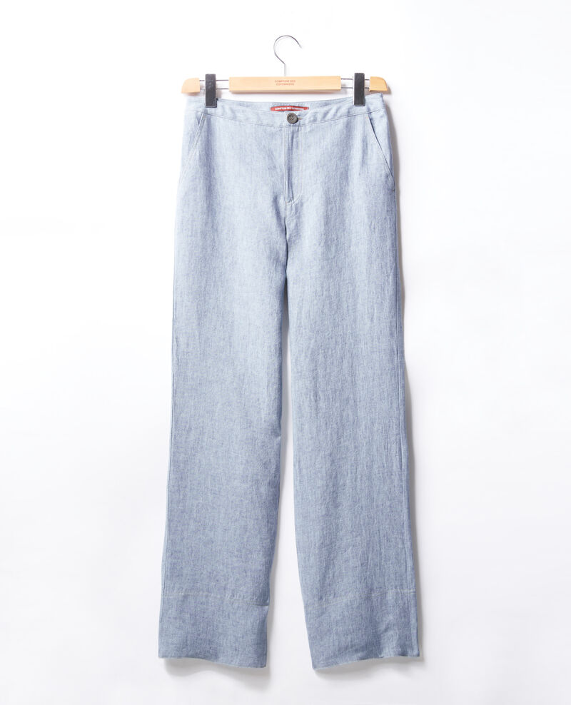 Loose fit linen trousers Azur Facteur