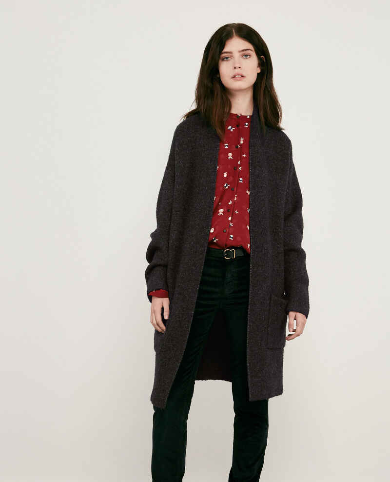 Mid-length cardigan Dark heather grey Demis