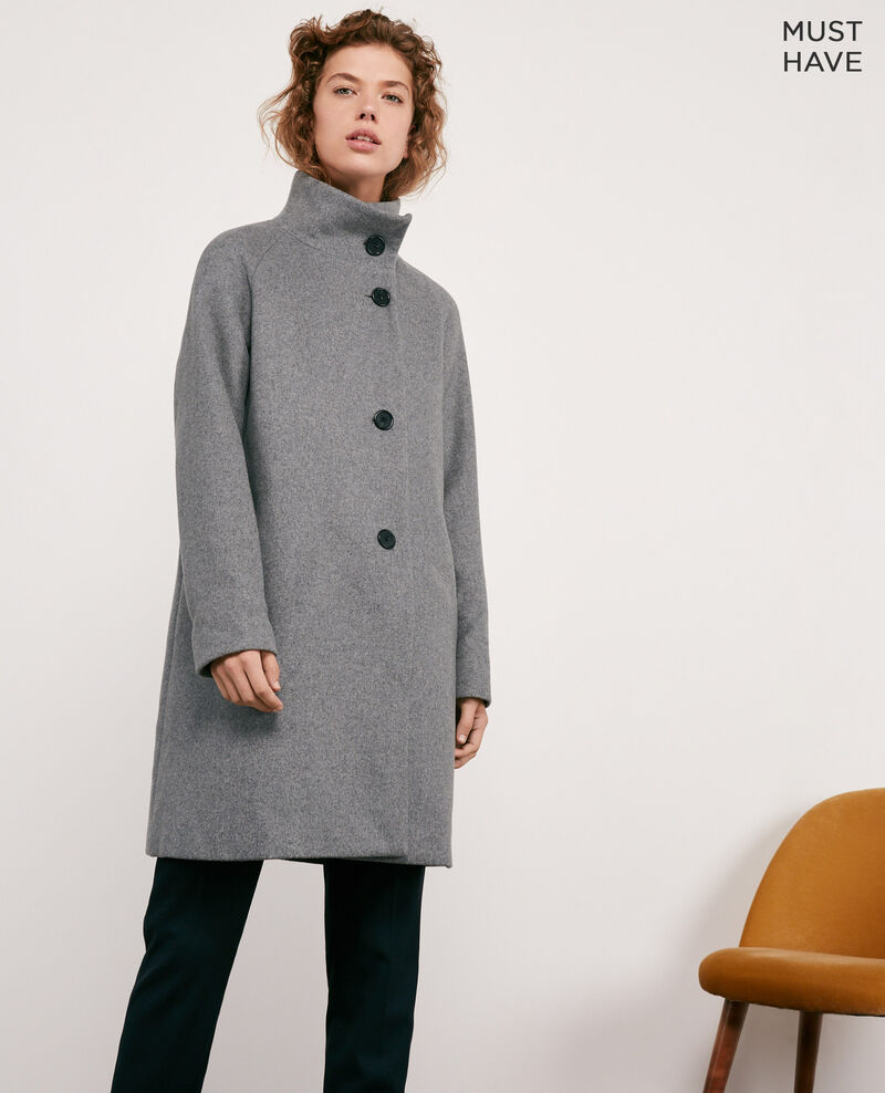 Wool coat MEDIUM HEATHER GREY