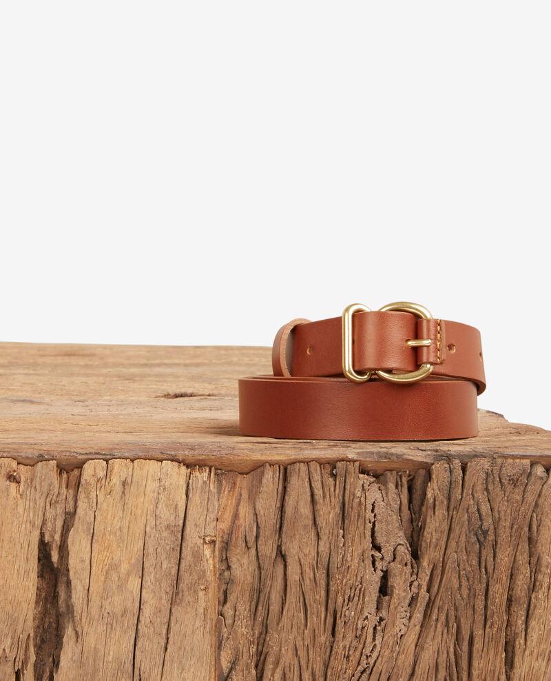 Leather belt Cognac Dean