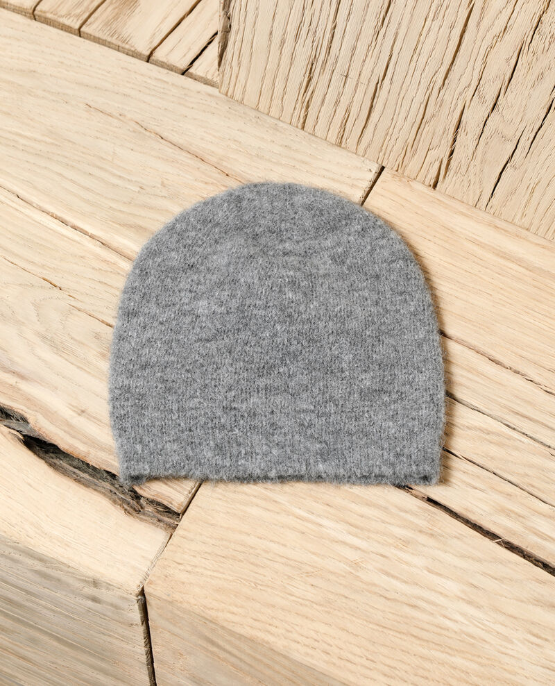 Fluffy beanie HEATHER GREY