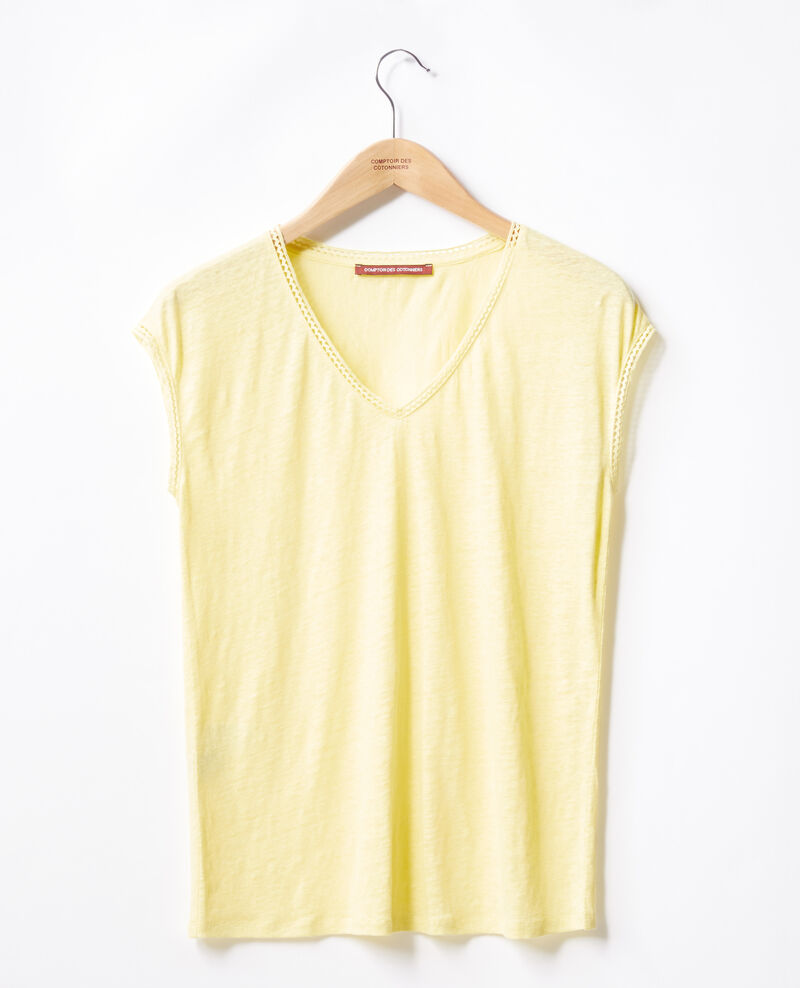 Linen T-shirt Lemonade Fevian