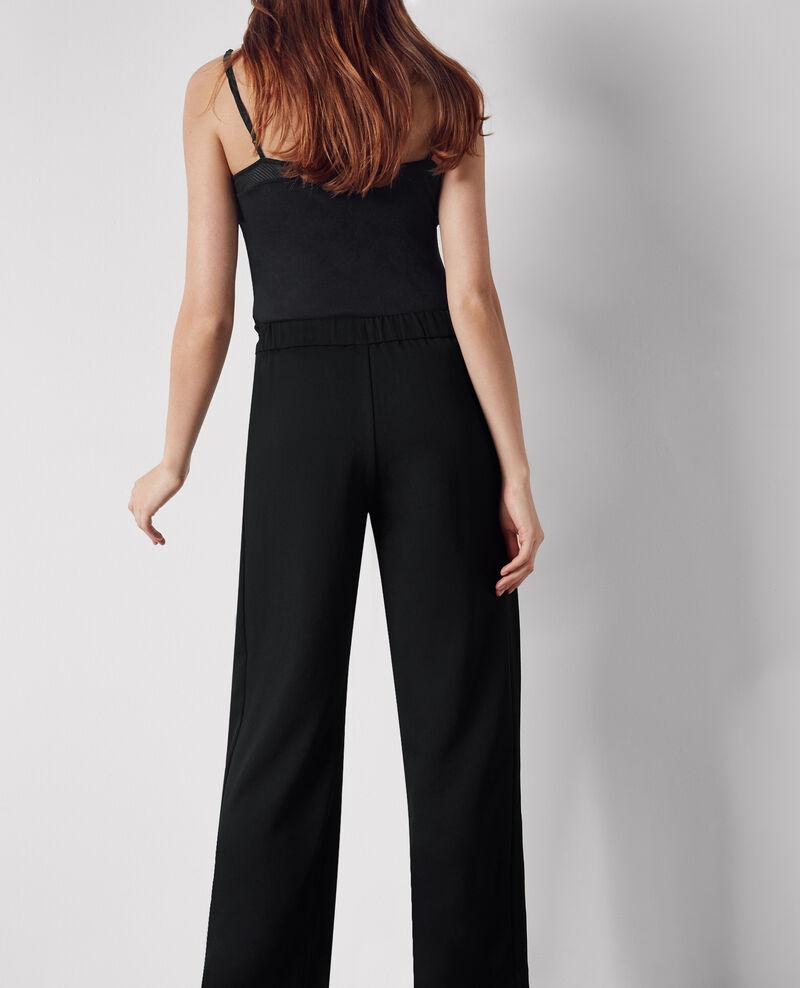 Crepe loose wide-leg trousers Noir Calong