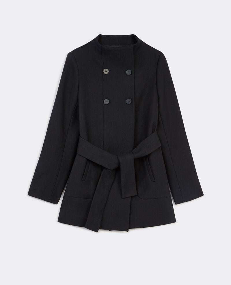 Cotton wool coat Noir Bacran