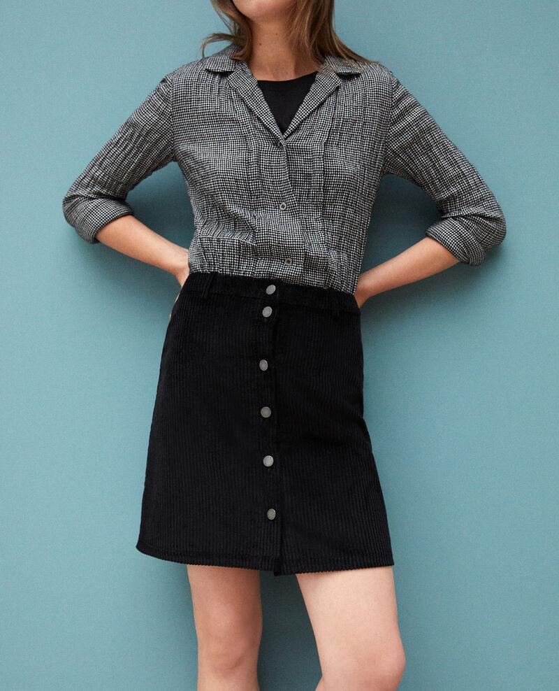 Ribbed corduroy skirt Noir 9gammon