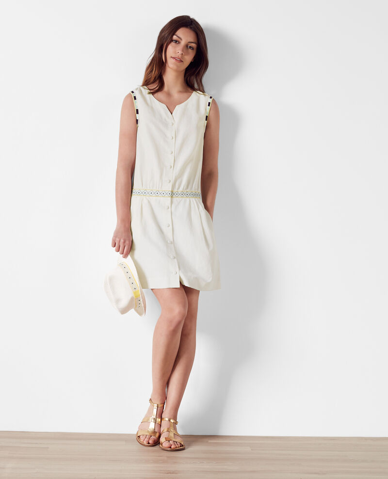 2-in-1 embroidered silk and linen dress Lin - Citronnelle | Comptoir ...
