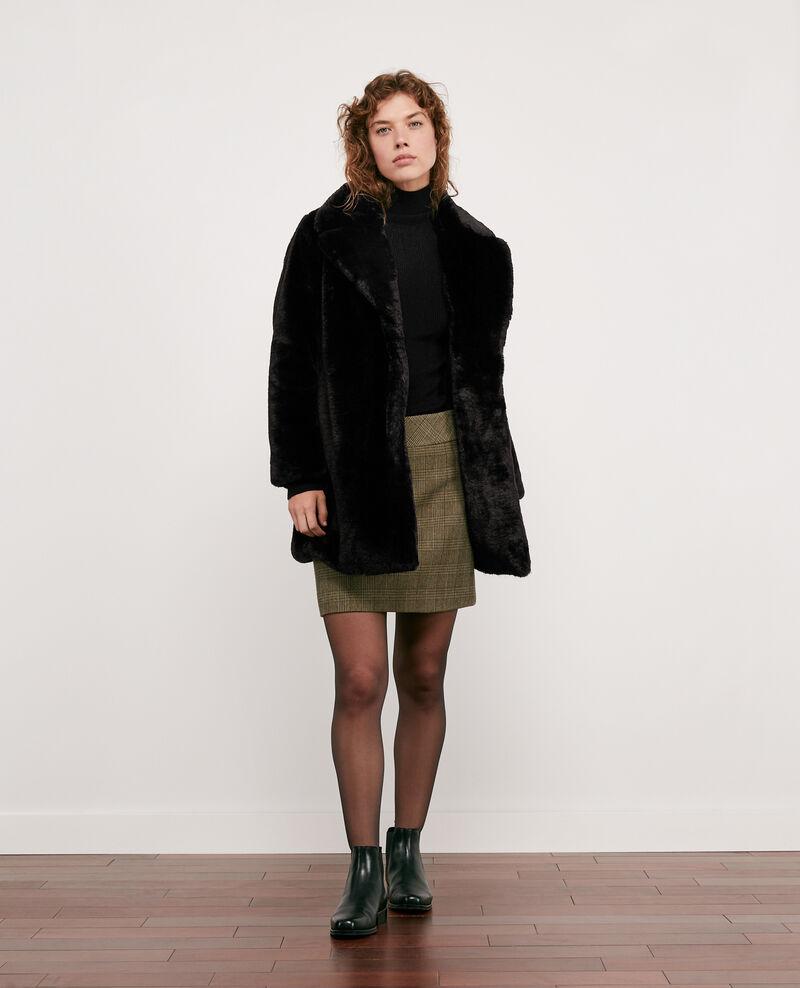 Faux fur coat Noir Dotonnier